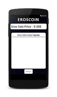 EROS Coin Price In INR, USD, EUR - náhled