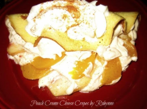 Peach Creme Cheese Crepes~robynne Recipe