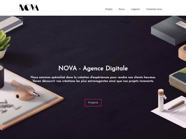 Nova template for portfolio