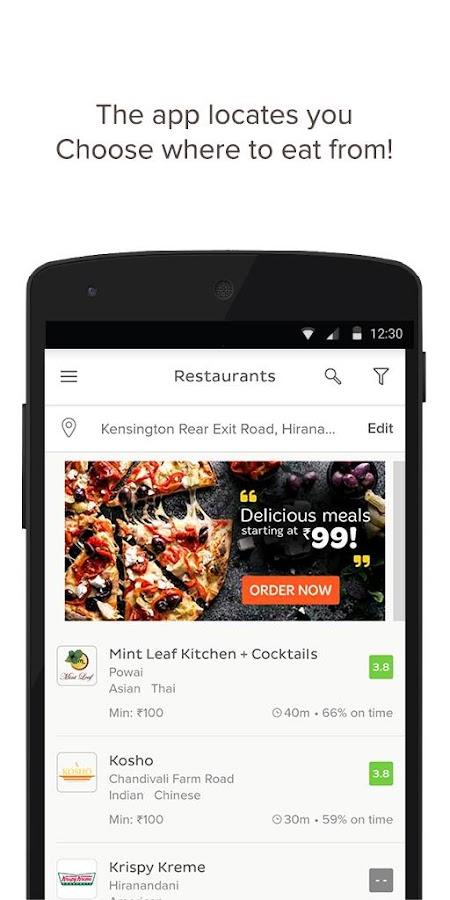TinyOwl Food Ordering - screenshot