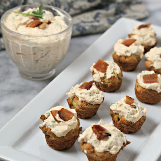 Bacon Thyme Scones with Savory Whipped Ricotta