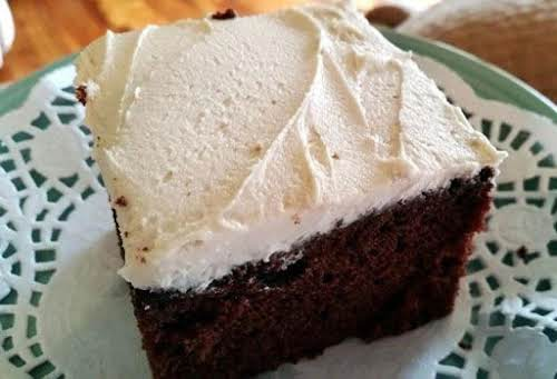 "Choc-Kahlua Cake W/ White Russian Frosting""Last night we wanted something chocolaty, moist..."