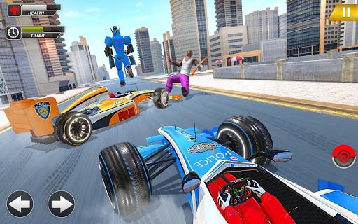Police Chase Formula Car Transform Cop Robot Games screenshot 6