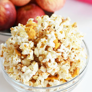 Easy Peanut Butter Cheddar Popcorn Snack