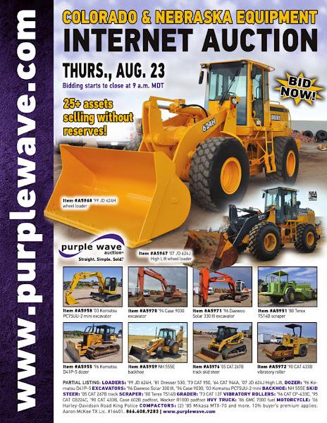 Photo: Colorado and Nebraska Equipment Auction August 23, 2012 http://purplewave.co/120823