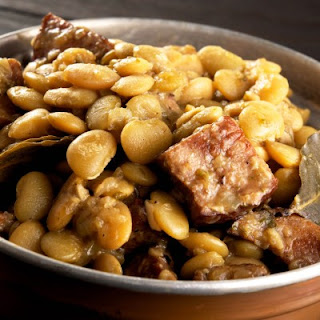 Butter Beans with Pickled Pork or Smoked Ham Hocks.