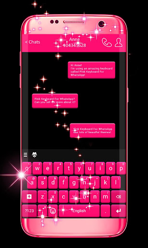 Pink Keyboard For WhatsApp 1.275.18.123 screenshots 1