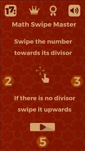 Math Swipe Master - division