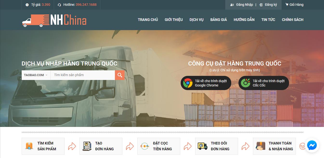 Website đặt hàng Trung Quốc