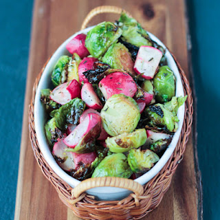 Roasted Radish and Brussels Sprouts Salad Recipe