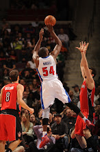 Photo: Jason Maxiell with the jumper