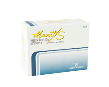 Muvett/S 200/120Mg Cáp.   Caja x21Cap. Procaps Trimebutina Simeticona