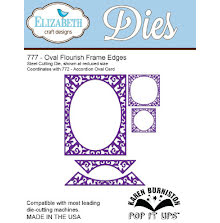 Elizabeth Craft Pop It Up Metal Dies By Karen Burniston - Oval Flourish Frame Ed