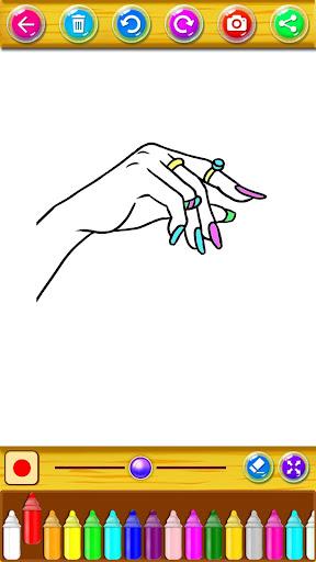 Coloring Fashion Nail Salon 1.0.2 screenshots 3