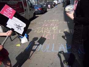 Photo: 3.24.12 Chalk Walk in Brussels, Belgium Reclaiming spots where they were harassed