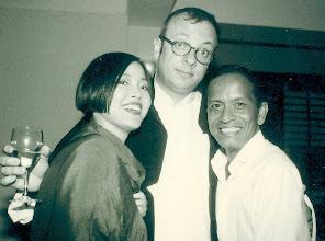 Photo: With the fabulous Richard Da Silva, Stanley Fort 1996.