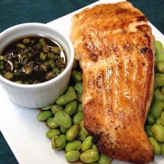 Salmon and Edamame in Ponzu Sauce.