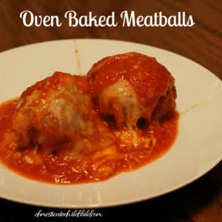 Oven Baked Meatballs.