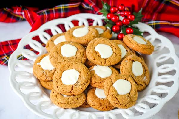 A Plate Of Gingerbread Thumbprints.