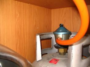 Photo: Antes de hacer nada, quito la alcachofa del gas, por seguridad.