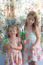 Photo: Easter lilies made from tracings of their hands