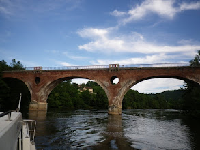 Photo: Railway bridge across the Lot