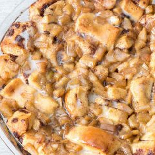 Apple Fritter Cinnamon Roll Bake.