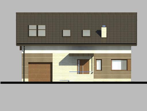 LIM House 05 - Elewacja przednia
