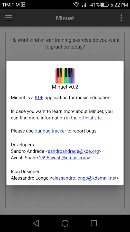 Minuet- screenshot
