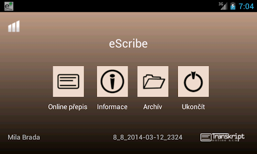 eScribeDroid Screenshot