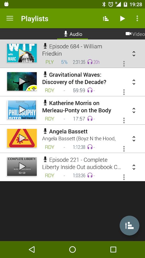 MyPOD V2 podcast manager beta- screenshot