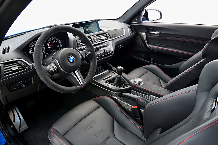 The BMW M2 CS has a flashy cabin interior.