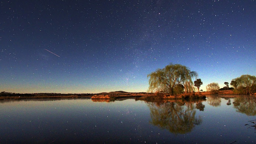 Dangars Lagoon Evening by Graham MacDougall - Landscapes Starscapes ( pwcstars )
