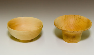 "Photo: Justin Freedman (guest) - two maple bowls, ~4"", firsts"