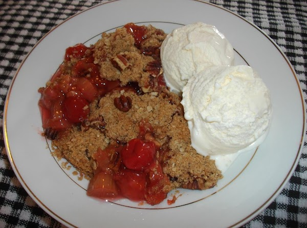 Cherry Rhubarb Crisp Recipe