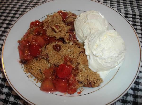 Cherry Rhubarb Crisp Recipe