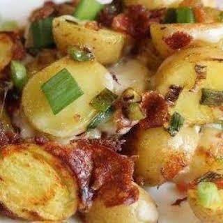 Crockpot Bacon Cheese Potatoes.