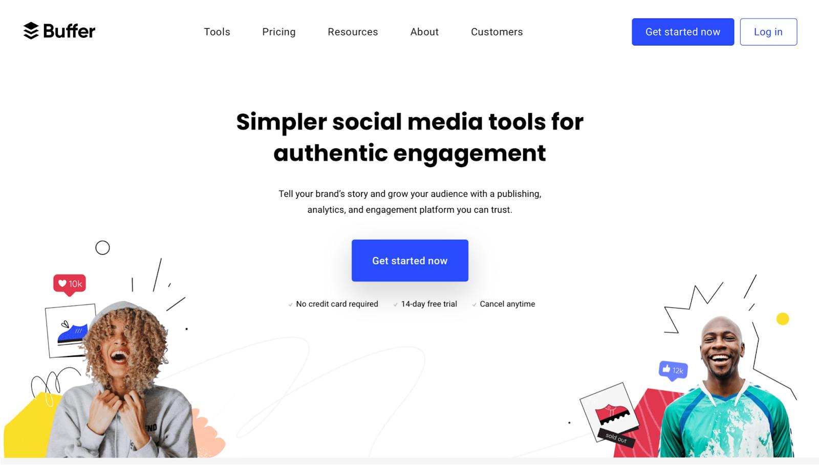 Minimalist websites - Buffer