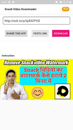 Snack Video Download without watermark- SAVE IT