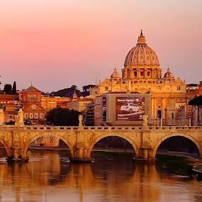 Vatican by Arda Erlik - Buildings & Architecture Public & Historical ( rome, sunset, vatican, italy, city )