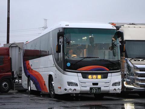九州産交バス「不知火号」 1011 大山田パーキングエリアにて_02