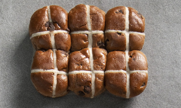 Woolworths Chocolate Hot Cross Buns.