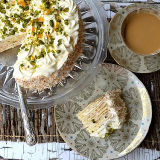 Pistachio & Coconut Crepe Cake