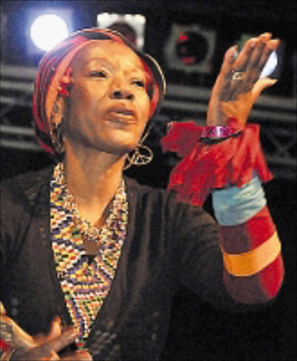 HIGHLIGHT: Busi Mhlongo at the Tribute to SA Music Heroes Concert in Mamelodi. Pic Vathiswa Ruselo. 01/09/2008. © Sowetan.