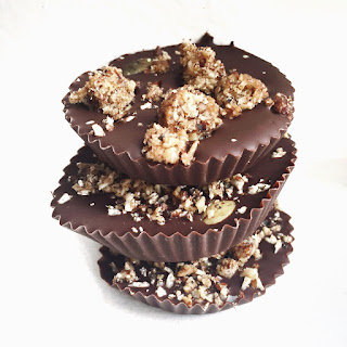 3 Ingredient Raw Chocolate Granola Cups Recipe