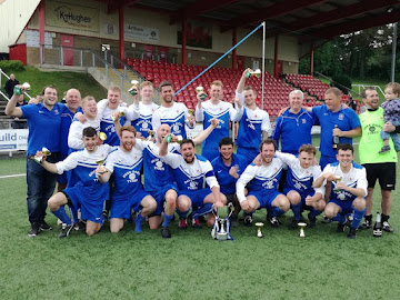 Celebrations for Rovers and Berriew