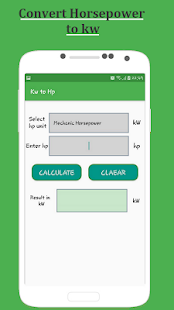 App Kw to HP Convert Calculator APK for Windows Phone