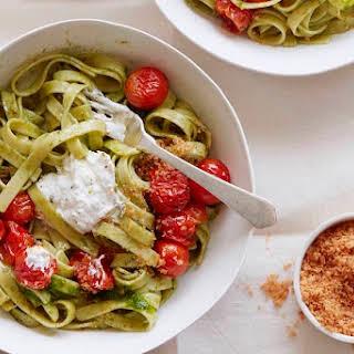 Tomato Basil Pasta with Burrata.