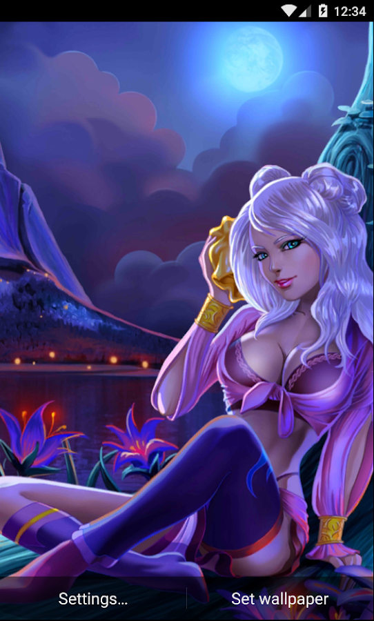 Night Girl HD Wallpaper- screenshot