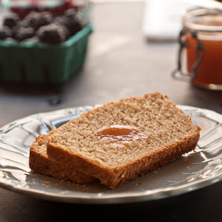 Micro-Brewery Honey Whole-Wheat Bread with Ginger Peach Butter.